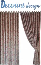 Set 2 draperii DECORINT pe inele capse (COD:DC.25)