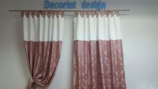 Set 2 draperii DECORINT cu bride (COD:DB.03)